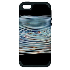 Wave Concentric Waves Circles Water Apple iPhone 5 Hardshell Case (PC+Silicone)