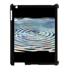 Wave Concentric Waves Circles Water Apple Ipad 3/4 Case (black)