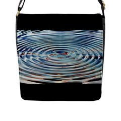 Wave Concentric Waves Circles Water Flap Messenger Bag (l)