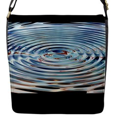 Wave Concentric Waves Circles Water Flap Messenger Bag (S)