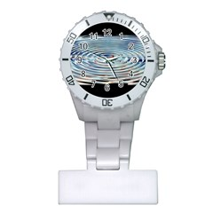 Wave Concentric Waves Circles Water Plastic Nurses Watch