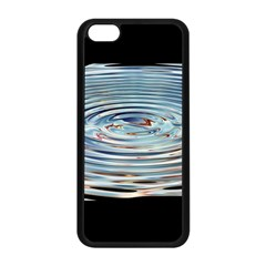Wave Concentric Waves Circles Water Apple Iphone 5c Seamless Case (black)