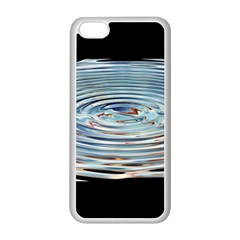 Wave Concentric Waves Circles Water Apple iPhone 5C Seamless Case (White)