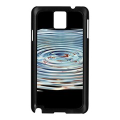 Wave Concentric Waves Circles Water Samsung Galaxy Note 3 N9005 Case (Black)
