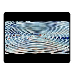 Wave Concentric Waves Circles Water Double Sided Fleece Blanket (Small)