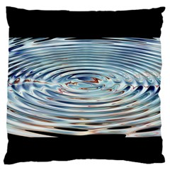 Wave Concentric Waves Circles Water Large Flano Cushion Case (Two Sides)