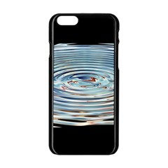 Wave Concentric Waves Circles Water Apple iPhone 6/6S Black Enamel Case