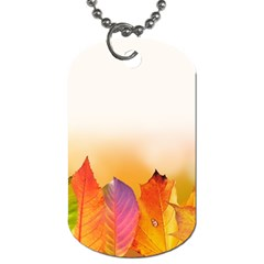 Autumn Leaves Colorful Fall Foliage Dog Tag (One Side)