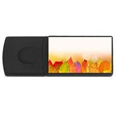 Autumn Leaves Colorful Fall Foliage USB Flash Drive Rectangular (2 GB)