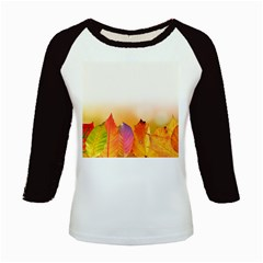 Autumn Leaves Colorful Fall Foliage Kids Baseball Jerseys