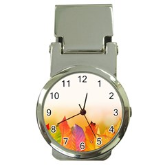 Autumn Leaves Colorful Fall Foliage Money Clip Watches