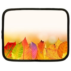 Autumn Leaves Colorful Fall Foliage Netbook Case (XXL)