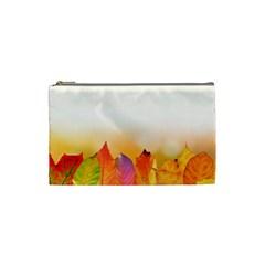 Autumn Leaves Colorful Fall Foliage Cosmetic Bag (Small)