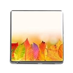 Autumn Leaves Colorful Fall Foliage Memory Card Reader (square)