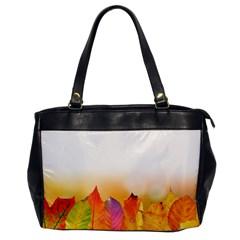 Autumn Leaves Colorful Fall Foliage Office Handbags