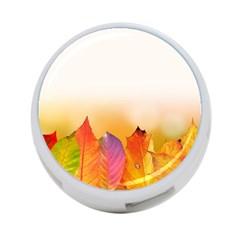 Autumn Leaves Colorful Fall Foliage 4 Port Usb Hub (one Side)