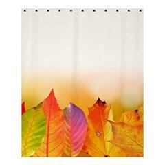 Autumn Leaves Colorful Fall Foliage Shower Curtain 60  x 72  (Medium)