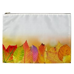 Autumn Leaves Colorful Fall Foliage Cosmetic Bag (xxl)