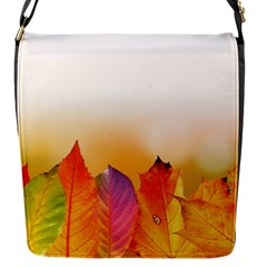 Autumn Leaves Colorful Fall Foliage Flap Messenger Bag (s)