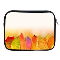 Autumn Leaves Colorful Fall Foliage Apple iPad 2/3/4 Zipper Cases