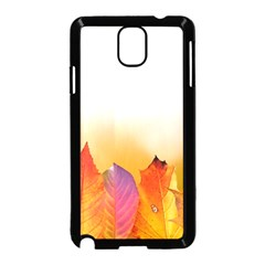 Autumn Leaves Colorful Fall Foliage Samsung Galaxy Note 3 Neo Hardshell Case (Black)