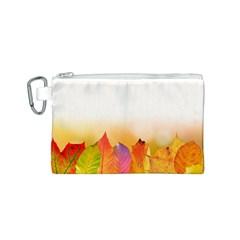 Autumn Leaves Colorful Fall Foliage Canvas Cosmetic Bag (s)