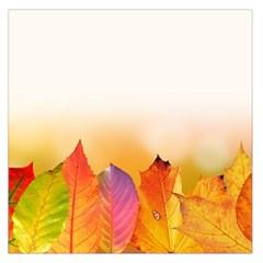 Autumn Leaves Colorful Fall Foliage Large Satin Scarf (square)