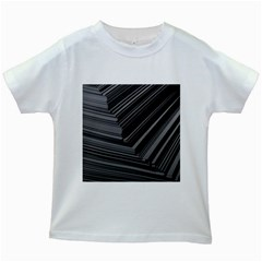 Paper Low Key A4 Studio Lines Kids White T Shirts