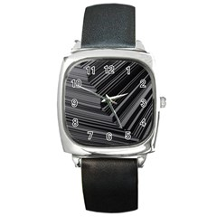 Paper Low Key A4 Studio Lines Square Metal Watch