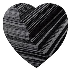 Paper Low Key A4 Studio Lines Jigsaw Puzzle (heart)