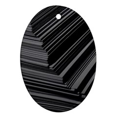 Paper Low Key A4 Studio Lines Oval Ornament (two Sides)