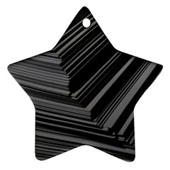 Paper Low Key A4 Studio Lines Star Ornament (two Sides)