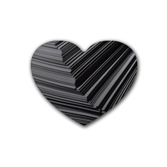Paper Low Key A4 Studio Lines Heart Coaster (4 Pack)