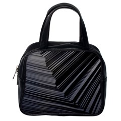 Paper Low Key A4 Studio Lines Classic Handbags (one Side)