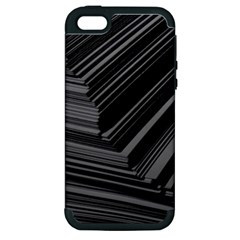 Paper Low Key A4 Studio Lines Apple iPhone 5 Hardshell Case (PC+Silicone)