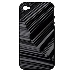 Paper Low Key A4 Studio Lines Apple iPhone 4/4S Hardshell Case (PC+Silicone)