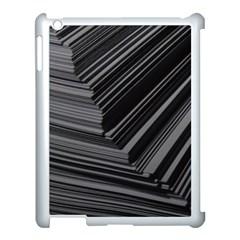 Paper Low Key A4 Studio Lines Apple Ipad 3/4 Case (white)