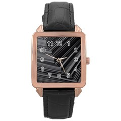 Paper Low Key A4 Studio Lines Rose Gold Leather Watch