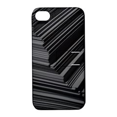 Paper Low Key A4 Studio Lines Apple iPhone 4/4S Hardshell Case with Stand