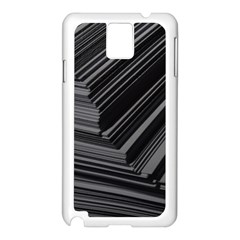 Paper Low Key A4 Studio Lines Samsung Galaxy Note 3 N9005 Case (White)
