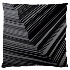 Paper Low Key A4 Studio Lines Large Flano Cushion Case (Two Sides)