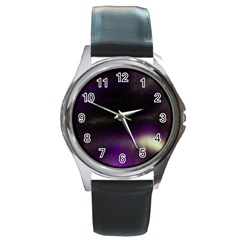 The Northern Lights Nature Round Metal Watch