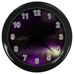 The Northern Lights Nature Wall Clocks (black)