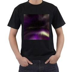 The Northern Lights Nature Men s T-Shirt (Black) (Two Sided)