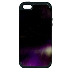 The Northern Lights Nature Apple iPhone 5 Hardshell Case (PC+Silicone)