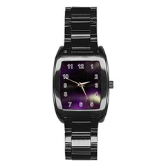 The Northern Lights Nature Stainless Steel Barrel Watch