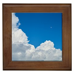 Sky Clouds Blue White Weather Air Framed Tiles