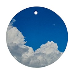 Sky Clouds Blue White Weather Air Ornament (round)