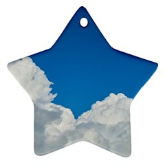 Sky Clouds Blue White Weather Air Ornament (Star)