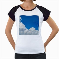 Sky Clouds Blue White Weather Air Women s Cap Sleeve T